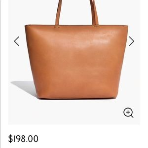 madewell the abroad leather tote bag